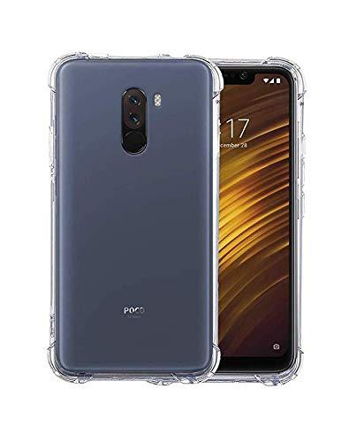 info for 6940d ad580 X wox™ Back Case Cover for Mi Poco F1 | Xiaomi Poco F1| Pocophone F1 |  Transparent Corner Protection Bumper Cover