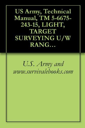 US Army, Technical Manual, TM 5-6675-243-15, LIGHT, TARGET SURVEYING U/W RANGE POLE, SELF ILLUMINATING W/CARRYING CASE, (MI DESIGN), (NSN 6675-00-612-1187)
