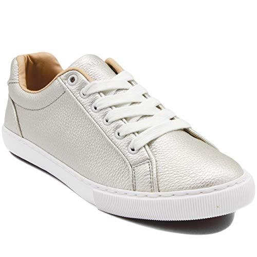 Nautica Steam Women Fashion Sneaker Casual Shoes-Steam Tumble-Silver-8