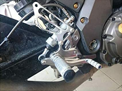 JFG RACING - Reposapiés Trasero Ajustable CNC para Kawasaki Z750 2004 2005 2006: Amazon.es: Coche y moto
