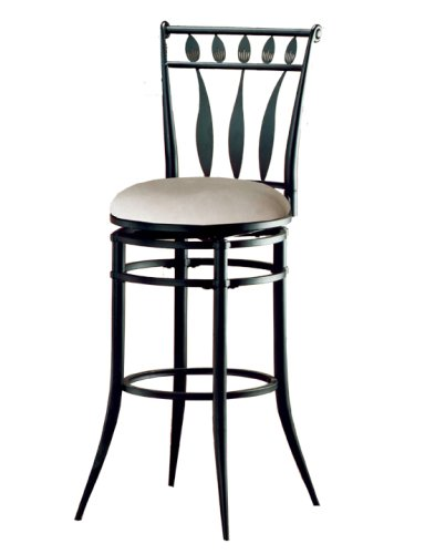 Amazon Com Hillsdale Hudson 30 Inch Swivel Bar Stool Black Finish