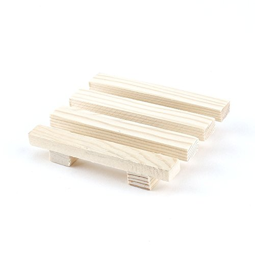 ningbao551 8 * 7 cm Natural Wood Wooden Soap Dish Storage Tray Holder Bath Shower Plate Support Tray Shower Plate Wash Soap Bath