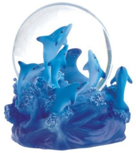 George S. Chen Imports Snow Globe Dolphin Collection Desk Figurine
