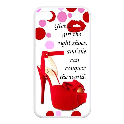 Fayruz- Marilyn Monroe Quotes Protective Hard TPU Rubber Cover Case for iPhone 4 / 4S Phone Cases A-i4K533