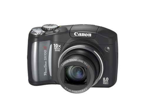 Canon Digital Powershot Concepts - Canon PowerShot SX100IS 8MP Digital Camera with 10x Optical Image Stabilized Zoom (Black)