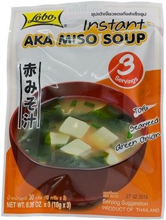 Price comparison product image Lobo Instant Miso Soup,Aka Miso Soup (Red Miso) , 1.08 Ounce., Pack of 2