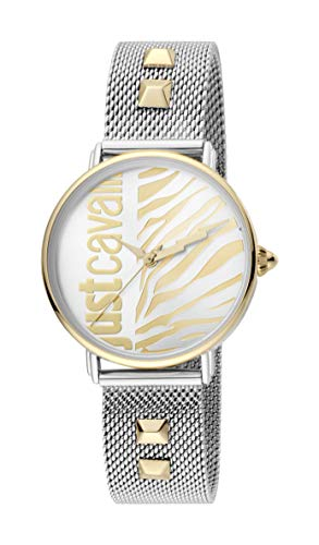 Just Cavalli JC1L077M0095 316L Stainless Steel Mineral Crystal Deployment Buckle Watch