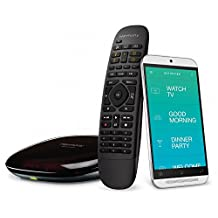 Logitech Harmony Companion All In One Remote Control for Smart Home and Entertainment Devices (Black) (Certified Refurbished)