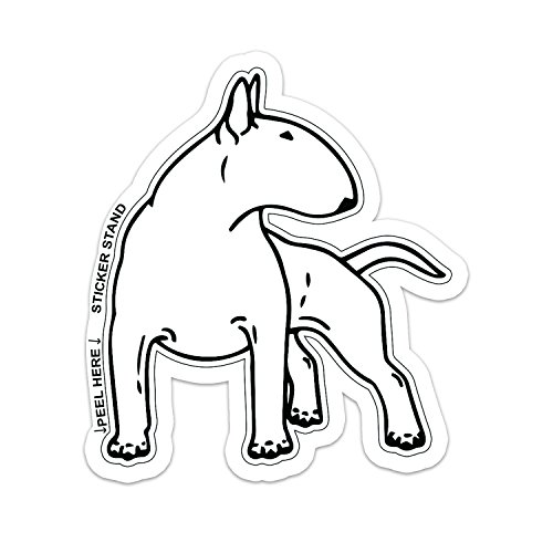 Bull Terrier dog car bumper sticker decal 6
