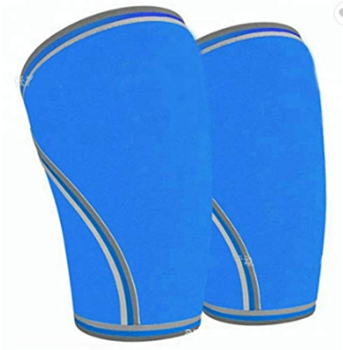 Knee Sleeves Crossfit for Knee Support 1Pair - Knee Braces - 7mm Compression,Blue,S