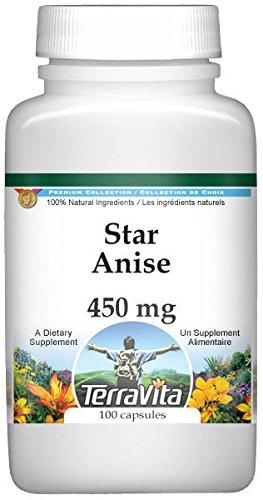 Star Anise - 450 mg (100 Capsules, ZIN: 518961) by TerraVita (Image #1)