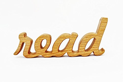 wood read sign shelf sitter word art