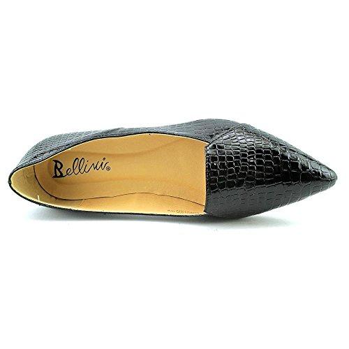 Bellini Mujeres Flora Flat Black Croc