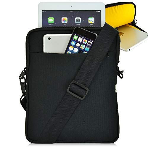 Turtleback Tablet Bag for iPad Pro and Other Tablets with Shoulder Strap Pouch Bag for Universal Tablets - Fits Devices up to 10.5