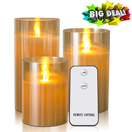Flameless Candles Flickering With Remote Timers - Kithouse LED Candles Battery Operated Electric Candles - 4