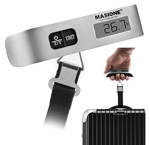 Masione Digital Hanging Postal Luggage Scale 110lb/50kg Temperature Sensor