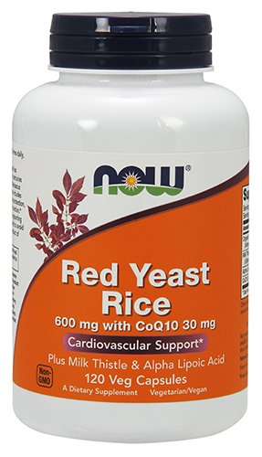 Now Red Yeast Rice 600mg with CoQ10 30mg,120 Veg Capsules