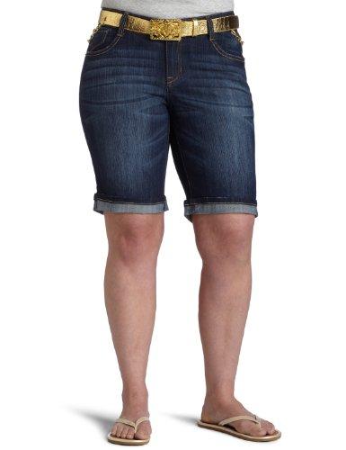 Shorts Southpole Bermuda (Southpole Junior Plus Belted Bermuda Short, Dark Sand Blue, 20)
