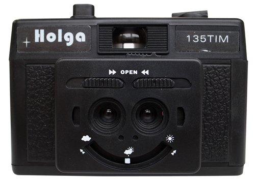 Holga 135 TIM 35mm 1/2 Frame Twin/Multi-Image Camera, Black