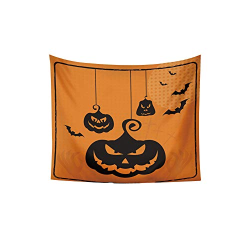 Blanket Tapestry Series (ExhilaraZ Happy Halloween Pumpkin Series Tapestry Bedspread Wall Hanging Blanket Poster Party Home Decor 5#)