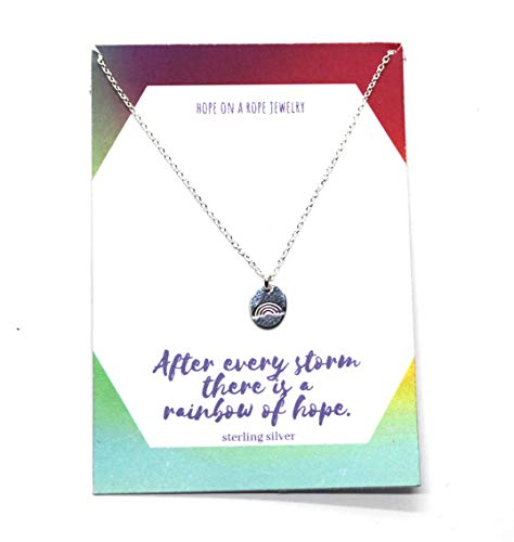 Rainbow Necklace - Sterling Silver Rainbow Necklace - Rainbow Baby Necklace - Gift after Miscarriage - Rainbow Baby - After Every Storm there is a Rainbow of Hope
