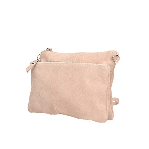 hombro Cm 17 rosado de x Bolso x 4 genuina Piel Borse 24 de Chicca pzRtqt
