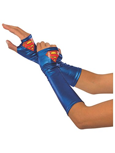 Rubies Adult Mask - Rubie's Women's DC Superheroes Supergirl Gauntlets, Multi, One Size