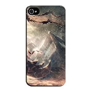 Black 3D And CG Protective Case For Iphone 5s Lonely Warrior