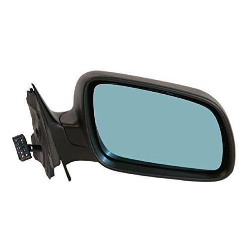 96-99 Audi A4 Power Heat Mirror Blue Tint Glass Fold Mirror Right Passenger Side -
