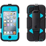 Griffin Black/Pool Blue Survivor All-Terrain Case with belt clip for iPod touch 5th/ 6th gen. - Extreme-duty case