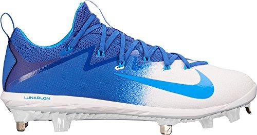 Nike Herren Lunar Vapor Ultrafly Elite Metall Baseball Klampen uns blau / weiß