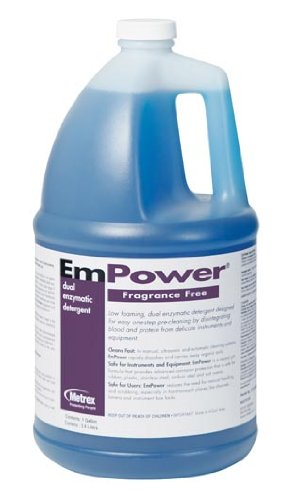 Metrex Research 10-4400 Empower Dual Enzymatic Detergent, Fragrance Free (Pack of 4)