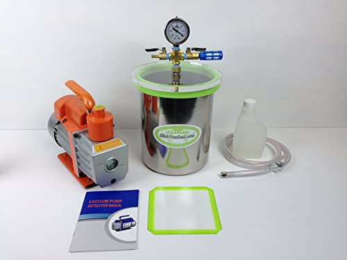 1-gall-ss-vacuum-chamber-3-cfm-vacuum-pump-used-for-degassing-resins-silicone-and-epoxies