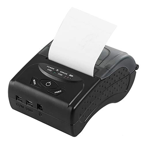 Portable Thermal Printer,KINGEAR Mini Wireless Bluetooth High Speed Direct Thermal Printer Compatible with ESC/POS/Star Print Commands Set
