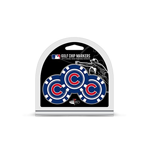 Chicago Poker - MLB Chicago Cubs 3 Pack Golf Chip Ball Markers