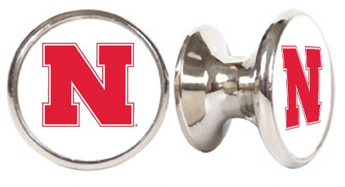 Nebraska Corn Huskers NCAA Stainless Steel Cabinet Knob / Drawer Pull