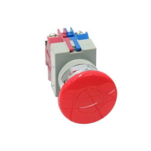 Idec AOW411-R Assembled Pushbutton Maintained On-Off NO/NC 22 mm Mounting Hole by Idec