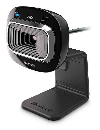 Microsoft LifeCam HD-3000 Webcam - Black (T3H-00011), 720p HD 16:9 Video Chat, Skype Certified