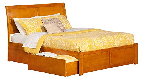 Atlantic Furniture AR8952117 Portland Bed King Caramel