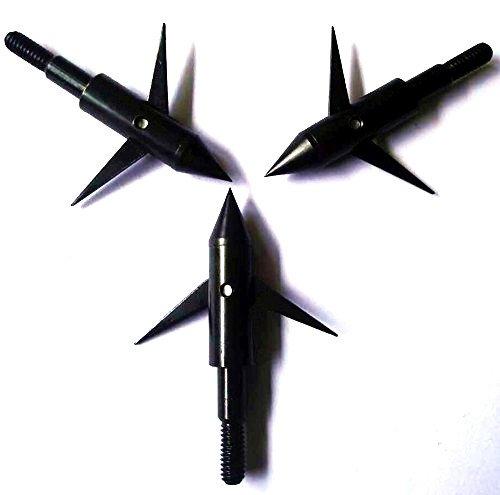 GPP 3PK 125gr Black Hunting 2 blades Broadheads Arrowhead Bowfishing Arrow ()