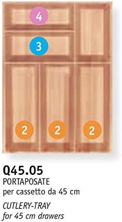 B.Arredo - Cubertero de madera maciza de haya evaporada - 45 cm ...