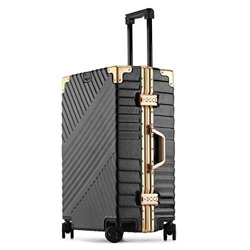 Reclain 高容量クリエイティブローリング荷物スピナースーツケースホイール 20 インチ黒キャビントロリーアルミフレーム旅行バッグ 20\ ブラック B07R2LZTTJ