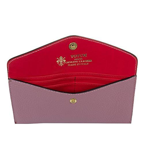 5 Rosa Italy Firenze 8x1 portamonete Portafoglio Italiana Pelle Genuine Donna Artegiani Carne 19 Colore In Cuoio Vera Portafoglio Made Dollaro Cm 2x9 Pelle pBxSpUqOnw
