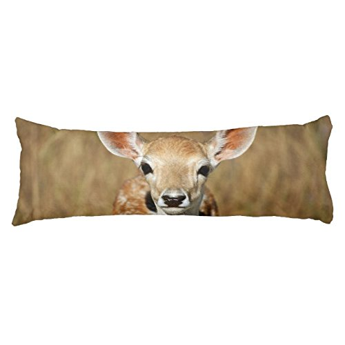 UOOPOO Deer Animal Doe Pet Body Pillow for Mom Typography Polyester Body Pillow Cover Square 20 x 54 Inches for Bed Print on Twin Sides