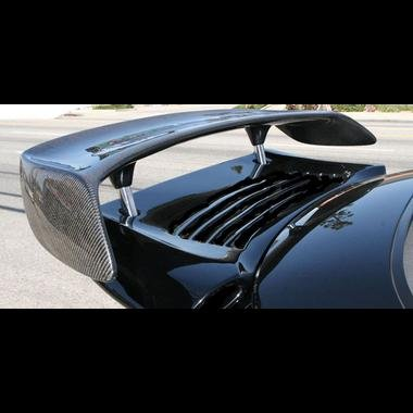 Gt2 Carbon Fiber - Porsche 996 Twin Turbo Carbon Fiber Style GT2 Hydraulic Bi-Wing
