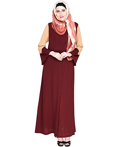 Modest Forever Folksy Brown Abaya Burkha for Women