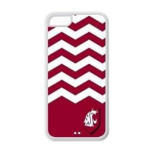Changetime Funny Fashion NCAA Washington State Cougars iPhone 5C case, Protector Washington State Cougars for iPhone 5C Fitted Cases NCAA phone cases TPU CASE