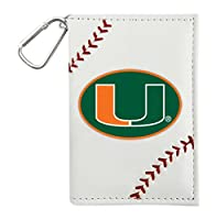 NCAA Miami Hurricanes Id Holder, White