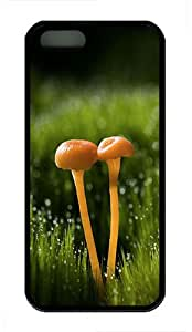 iPhone 5S Case,Two Small Mushrooms TPU Custom iPhone 5/5S Case Cover Black