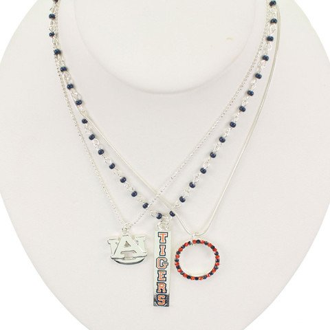 Auburn Tigers - NCAA Trio Necklace Set by Seasons Jewelry